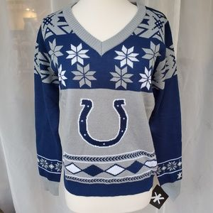 NWT Indianapolis COLTS women's fan sweater sz L